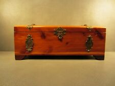 Vintage Wood Jewelry Box Hand Made Dove Tail