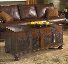 Storage Chest Trunk Coffee Table Big Wooden Treasure Living Room Furniture NEW
