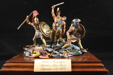 Spartans last stand at the Battle of the Thermopylae, hand painted