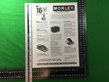 **advert**  Morley effects pedals 1979 power wah fuzz pro flanger pro panner etc