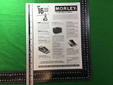 advert Morley effects pedals 1979 power wah fuzz pro flanger pro panner etc
