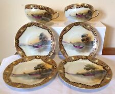 ANTIQUE JAPANESE PORCELAIN TEA TRIOS