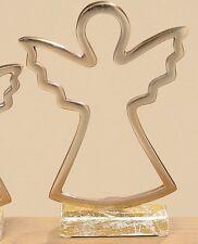 Ángel de la Guarda Figura Decorativa Decoración Navidad Color Dorado Metal