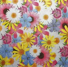 4 X single  PAPER NAPKINS  flowers mix  DECOUPAGE AND CRAFTING 204