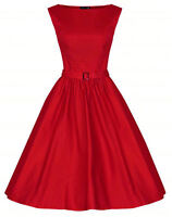 QUEENS SIZE 28 4X RETRO RED 50s 60s PINUP SWING DAY VTG COUTURE CHRISTMAS DRESS