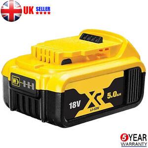 For Dewalt DCB184 18V XR 5Ah slide battery DCB182 DCF885 DCC785 DCB180 Cordless