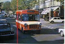 LONDON TRANSPORT Ford Strachan Minibus FS13 Highgate Village 1972 postcard
