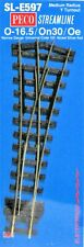 Peco On30 Scale Streamline Code 100 Track Section - Medium Radius Wye Turnout