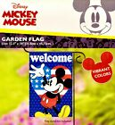 """DISNEY 12"""" x 18"""" Mickey Mouse WELCOME Garden Flag/Banner (Patriotic/America)"""