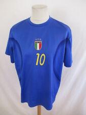 Maillot de football replica vintage Italie N° 10 TOTTI Bleu Taille XL