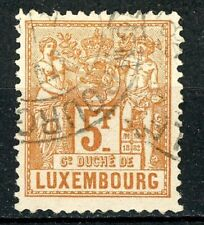 Luxembourg Issue of 1882 5 Francs Postally Used Scott's 59 EXPERTIZED