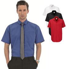 B&C Kurzarm Hemd Business-Freizeit Shirt I S M L XL XXL 3XL 4XL