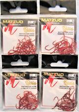 100 Matzuo Fishing 140062 Red Sickle Baitholder Fish Hooks Size 4 (4 Pks of 25)