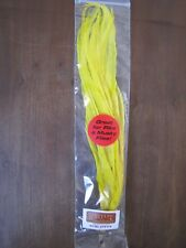 """Fly Tying-Whiting Schlappen Bundle 10-14"""" White dyed Yellow"""