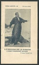 Librito antiguo de San Francisco Javier image pieuse santino holy card estampa