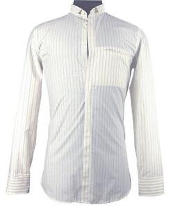 Neil Barrett pin stripe shirt off-white