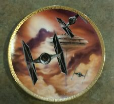 Star Wars Collector Plate Tie Fighters Space Vehicles Hamilton Collection 1995
