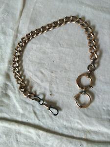 Uhrenkette , Taschenuhrenkette; vergoldet