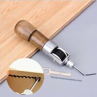 Leather Craft Automatic Lock Stitching Sewing Awl Tool Thread with 2 Needles
