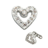 1PC Titanium Micro Dermal Anchor Base With Heart Surface Skin Diver Body Jewelry