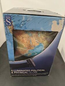 WH Smith Illuminated Physical and Political Globe #SH