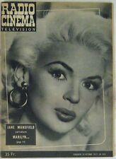 Revue Radio Cinéma Télévision n°405 Jane Mansfield 1957