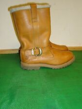 Timberland Nellie Brown Leather Pull on  Waterproof Women Boot SZ# 8 W
