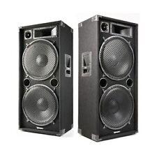 COPPIA CASSE ACUSTICHE PASSIVE 4000W DOPPI WOOFER 38 CM DIFFUSORI PALCO DJ LIVE