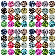 4/6/8/10mm Charm Faux Pearl Glass Spacer Loose Craft Beads For Craft Making
