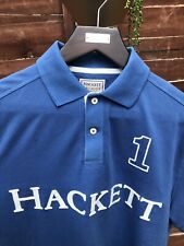 Hackett London Mens Blue Polo Shirt Medium Casual Classic Fit