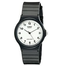 New Casio Classic Unisex MQ24-9B3 Analog Black Resin Band Watch Japanese Quartz