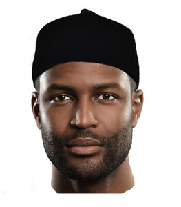 Black Wool Felt Igbo Cap African Fez Kufi Hat