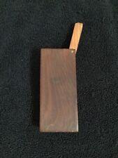 Vintage Brown Wooden  Cigarette Cigar Case Box Holder Unused 4 X 1 1/2 Inches