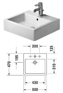 Duravit Waschtisch Vero für 1-Loch-Armatur verschiedenen Abmessungen