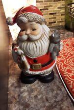 Vintage HOMCO santa piggy bank teddy bear sack of toys 5610