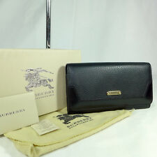 Authentic Burberry Penrose Black Leather Large Continental Wallet Purse Ex Con