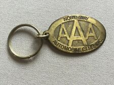 Vintage Brass AAA Triple A Keychain - Northway Automobile Club, New York - 1980s
