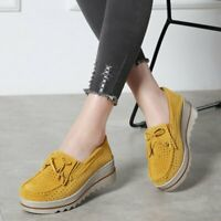 Fashion Women's Moccasins Loafers Wedge Heels Hollow out Slip on Casual Shoes SZ