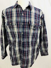 Guess Jeans Mens Vintage Shirt Size Large L Long Sleeve Button Front Plaid (V