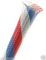 """1meter Orange Techflex PTN0.25OR 1//4/"""" Flexo PET Wire Sleeving 0.25/"""""""