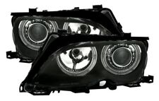 2 FEUX PHARE AVANT ANGEL EYES BMW SERIE 3 E46 BERLINE PHASE 2 DE 10/01 A 03/05