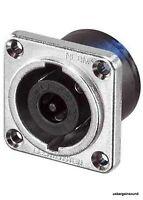 Genuine Neutrik NL8MPR Speakon Loudspeaker/Amplifier 8 Pole/Pin Panel Connector