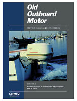 Manual Old Outboard Motor Service V 1 1969 By Clymer