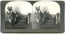 Africa Rhodesia Big Game Hunt Returning with Trophies 17015 Stereoview