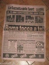 AS ROMA LIVERPOOL FINAL EUROPEAN CUP FINALE COPPA CAMPIONI 1984 GAZZETTA SPORT