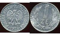 POLOGNE  1 zloty  1978