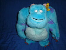 """Monsters Inc SULLEY W/ Moving Eyes 14"""" Plush Spin Master 2001"""
