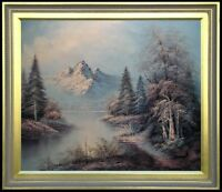Framed Quality Hand Painted Oil Painting A Snowy Landscape 20x24in