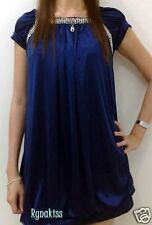 ♥♥♥ NEW Sexy Soft Satin Electric Blue Dress Top ♥♥♥