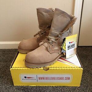New Belleville 220 DES ST Tan Steel Toe Boots Size 11 R Flight Military
